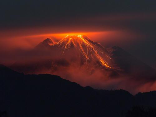 The Reventador is Ecuador's most active volcano