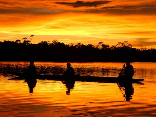 CLIMATE & WEATHER IN THE AMAZON RAINFOREST OF ECUADOR: Sunsets are often dramatically beautiful.